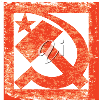 Royalty Free Clipart Image of a Soviet Symbol