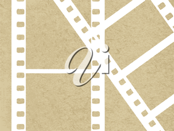Royalty Free Clipart Image of Filmstrips