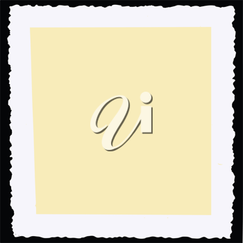 Royalty Free Clipart Image of a Paper Frame