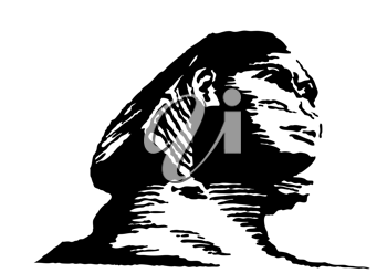 Royalty Free Clipart Image of the Sphinx