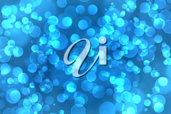 Royalty Free Clipart Image of a Blue Circle Background