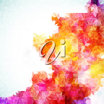 Abstract background with place for your text. Colorful mosaic, EPS10 - vector graphics.
