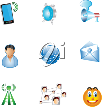 Royalty Free Clipart Image of Icons