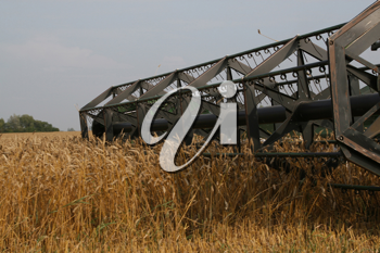 Royalty Free Photo of a Harvester