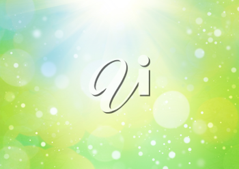 Royalty Free Clipart Image of a Bright Green Background With Sunlight
