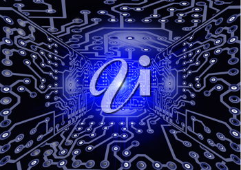 Royalty Free Clipart Image of a Circuit Board
