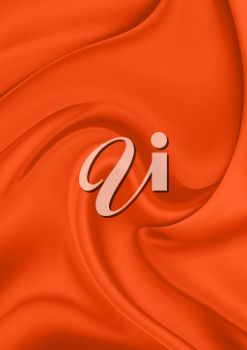 Royalty Free Clipart Image of an Orange Silk Background