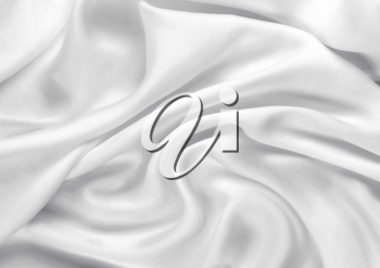 Smooth elegant white silk can use as fine background