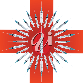 Royalty Free Clipart Image of a Blood Donor Symbol