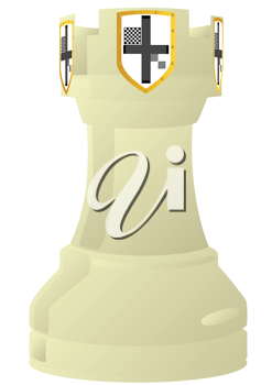 Royalty Free Clipart Image of a Chess Rook