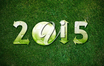 Happy new sport year 2015 with Football, the same concept available for 2016 and 2017 year.