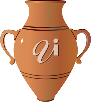 Royalty Free Clipart Image of a Clay Vase