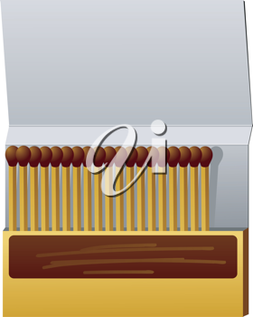 Royalty Free Clipart Image of a Box of Matches