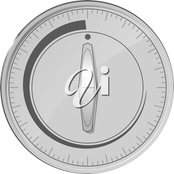 Royalty Free Clipart Image of a Timer Switch