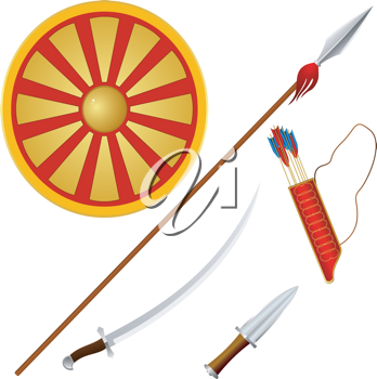 Royalty Free Clipart Image of Weapons