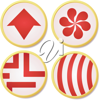 Vector illustration of colored buttons