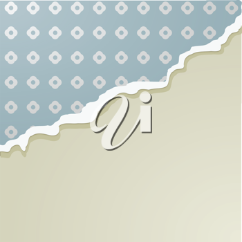 Vector illustration of paper with a torn edge