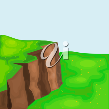 landscape with cliffs and meadows. eps10