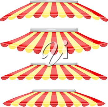 Red and Yellow Strip Shop.Vector illustration