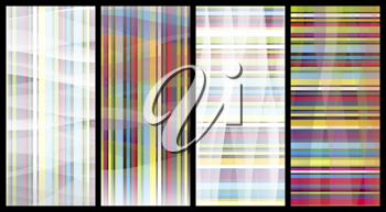Royalty Free Clipart Image of Striped Banners