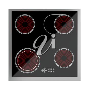 Royalty Free Clipart Image of a Ceramic Cooktop