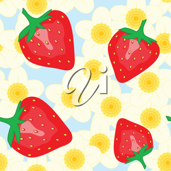 Royalty Free Clipart Image of a Strawberry Background