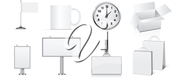 Royalty Free Clipart Image of a Set of Business Elements