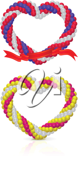 Royalty Free Clipart Image of Balloon Hearts