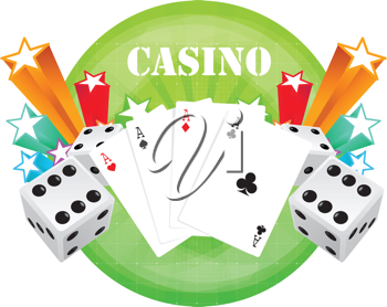 Royalty Free Clipart Image of Casino Elements