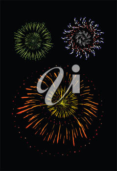 Royalty Free Clipart Image of a Fireworks Background