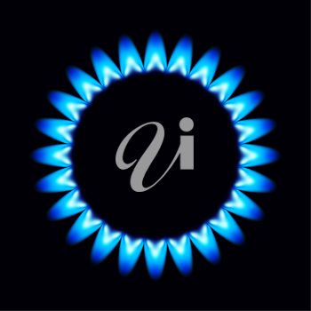 Royalty Free Clipart Image of a Gas Flame