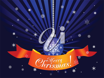 Royalty Free Clipart Image of a Merry Christmas