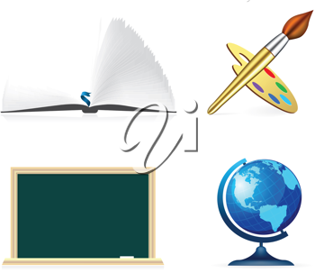 Royalty Free Clipart Image of Educational Elements