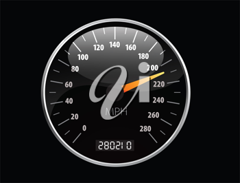 Royalty Free Clipart Image of a Speedometer Background