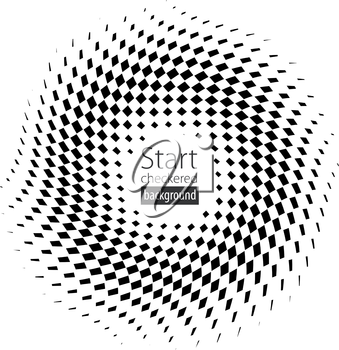 Checkered black and white flag background illustration