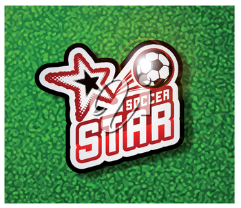 Soccer badge logo template, football design. Vector illustration