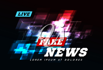 Live Fake News Can be used as design for television news or Internet media. Vector illustration