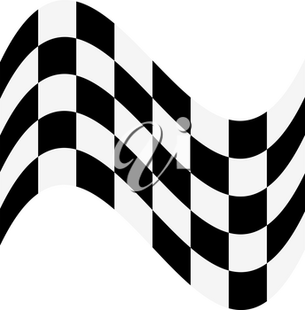 Checkered Flag vector illustration on whie background. Start and finish flag