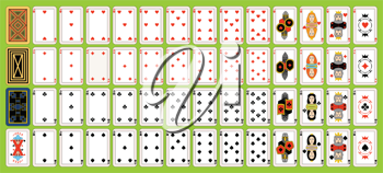 Royalty Free Clipart Image of Playing Cards