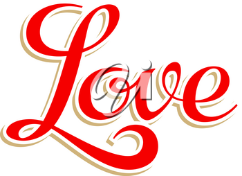 Lettering Love. This calligraphy inscription can be used as a print on T-shirts
