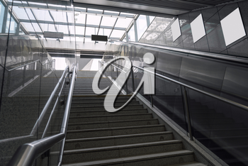 The stairs in the subway, entrance to ground. Photo in suzhou, China.