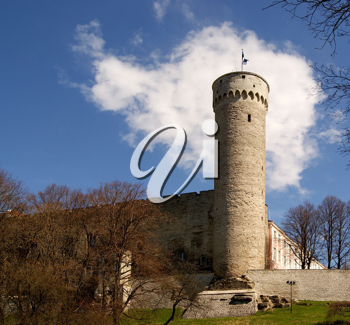Royalty Free Photo of an Old Tower and Fortress