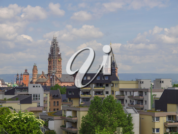 View of the city of Mainz in Germany