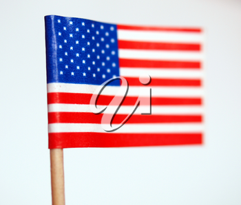 The national flag of the United States of America (USA) - selective focus