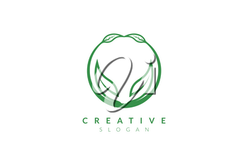 Vector design leaf various abstract shape. Minimalist leaf design, flat logo style, modern icon and symbol
