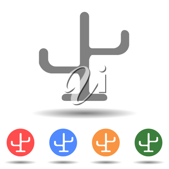 Cloth hanger stand vector in simple style