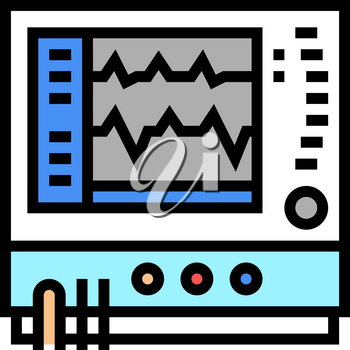 heart rate monitor color icon vector. heart rate monitor sign. isolated symbol illustration