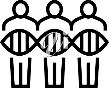 people genetic line icon vector. people genetic sign. isolated contour symbol black illustration