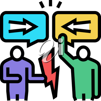 disputes on forum color icon vector. disputes on forum sign. isolated symbol illustration