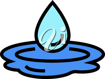 drop water color icon vector. drop water sign. isolated symbol illustration